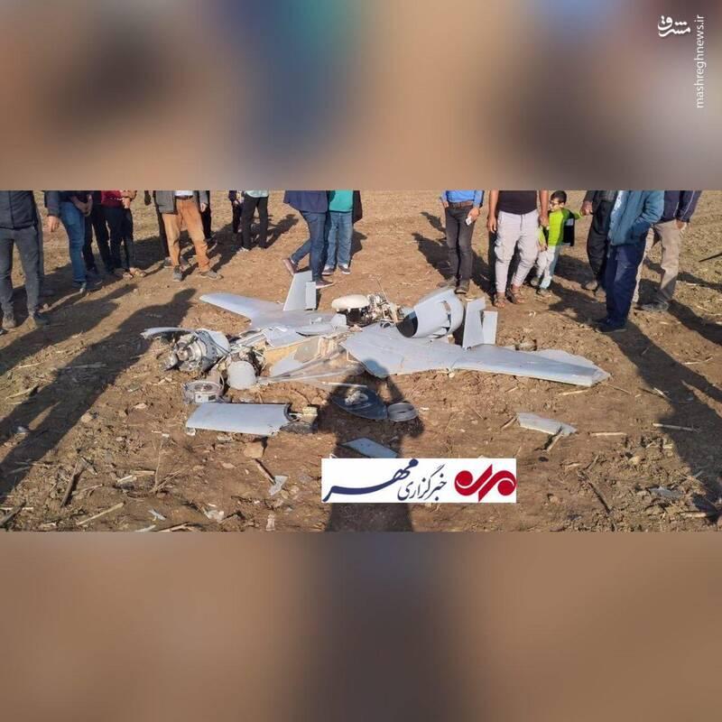 یک فروند پهپاد در شهرستان مرزی مغان سقوط کرد