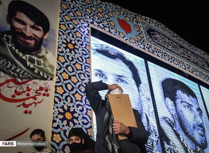 شب وداع با پیکر شهدای مدافع حرم خانطومان