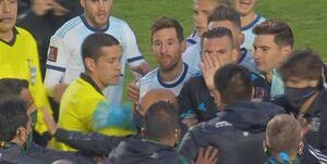 الفاظ زشت مسی در بازی مقابل بولیوی +فیلم