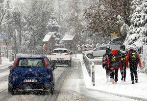 عکس/ بارش اولین برف پاییزی در لهستان