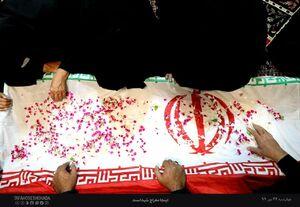 """مراسم وداع با پیکر مطهر شهید مدافع حرم خانطومان """"حجه الاسلام مجید سلمانیان"""""""