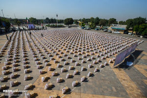 عکس/ سنگ تمام قزوینیها در رزمایش کمک مومنانه