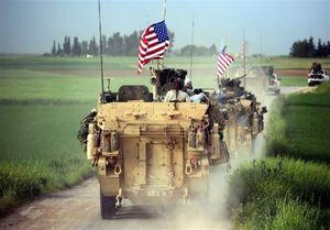سوریه| خروج دهها خودروی اشغالگران آمریکایی و حرکت به سمت عراق