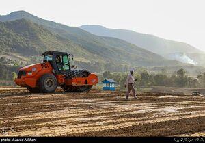 عکس/ پروژه عمرانی قرارگاه خاتم در استان گلستان