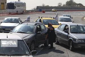 عکس/ کنترل و ترددها در مبادی ورودی خروجی تهران