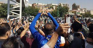تجمع هواداران روبروی مجلس