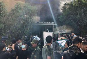 فیلم/ به آتش کشیدن دفتر حزب دموکرات کردستان توسط مردم خشمگین