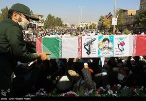 عکس/ تشییع و خاکسپاری شهید خان طومان در قزوین