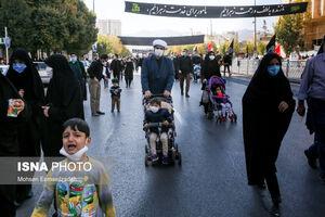 عکس/ پیاده روی مجاوران حضرت رضا (ع)