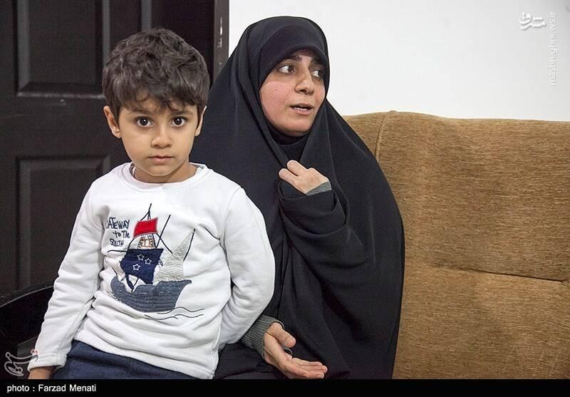 همسر و فرزند شهید محمود رادمهر