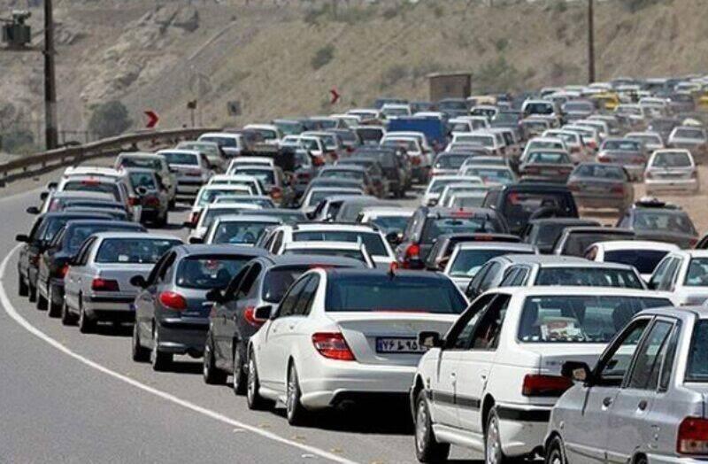 ترافیک در جاده های البرز سنگین شد