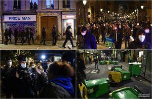 عکس/ اعتراض پاریسیها علیه محدودیتهای کرونایی
