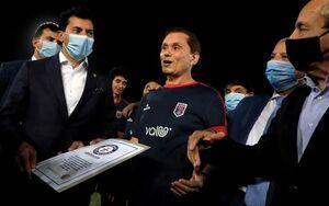 پدربزرگ ۷۵ ساله مصری رکورد مسنترین بازیکن فوتبال جهان را شکست