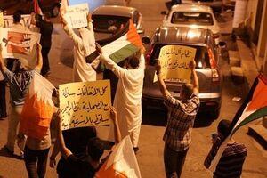 تظاهرات مردم مناطق مختلف بحرین در مخالفت با توافق سازش با تل آویو - کراپشده