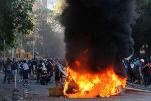 عکس/ آشوب در پایتخت شیلی
