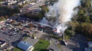 عکس/ انفجار در یک مرکز خرید در ویرجینیا آمریکا
