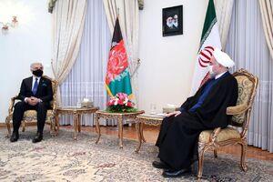 دیدار رییس شورای عالی مصالحه افغانستان با دکتر روحانی