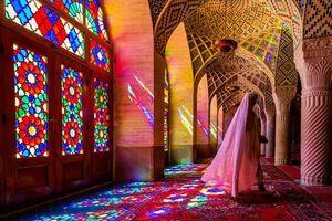 مسجد نصیرالملک شیراز زیباترین مسجد صورتی ایران