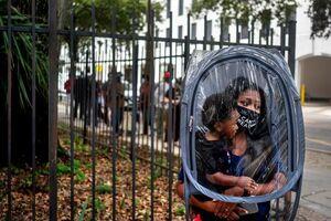 عکس/ تدابیر پیشگیری از کرونا در صف رای انتخابات آمریکا