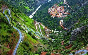 عکس/ نمایی خیرهکننده از روستای بُلبر
