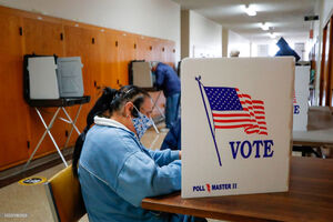 جدیدترین تصاویر از انتخابات زودهنگام در آمریکا