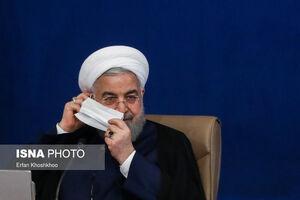 عکس/ ماسک زدن روحانی در جلسه هیات دولت
