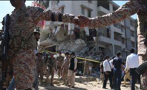 عکس/ انفجار مهیب در شهر کراچی