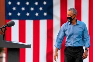 عکس/ اولین حضور اوباما در گردهمایی جو بایدن