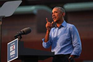 اولین حضور اوباما در گردهمایی انتخاباتی جو بایدن