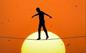 عکس/ خلاقیت در عکاسی از غروب خورشید