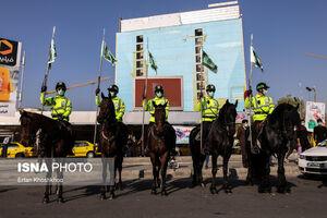 رژه یگان ویژه اسب سوار ناجا در خیابان ولی عصر