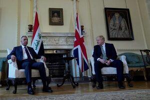 بغداد لندن انگلیس عراق جانسون الکاظمی
