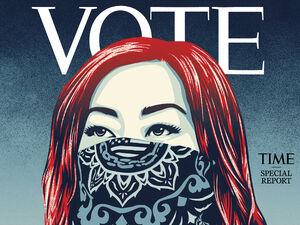 عکس/ دعوت مجله تایم از مردم آمریکا به رای دادن