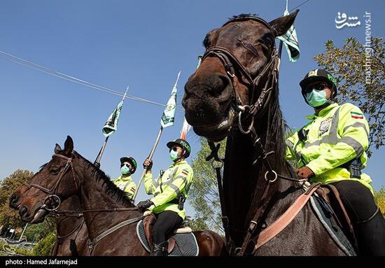 فیلم/ رژه «اسب سواران» یگانویژه نیروی انتظامی