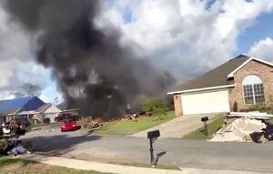 عکس/ سقوط مرگبار هواپیمای نیروی دریایی آمریکا