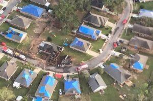 فیلم/ سقوط مرگبار هواپیمای ارتش آمریکا در منطقه مسکونی