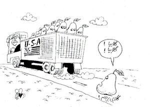 کاریکاتور/ سرنوشت گلابی برجام !