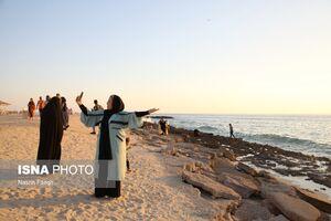 عکس/ سلفی با کرونا در جزیره کیش
