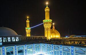 تصویری زیبا از حرم امام حسین(ع)