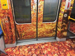 چهار فصل در متروی میلان +عکس