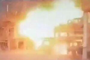 لحظه انفجار در واحد آروماتیک پتروشیمی بندر امام