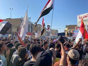عکس/ تظاهرات در نخستین سالگرد اعتراضات اکتبر در عراق