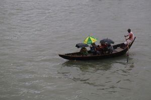 عکس/ بارش شدید باران در پایتخت بنگلادش