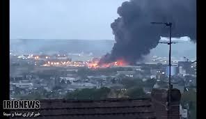فیلم/آتش سوزی گسترده در فرانسه