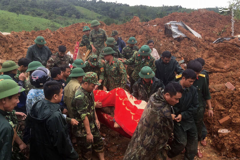 تصاویر جدید از خسارت سیل در ویتنام