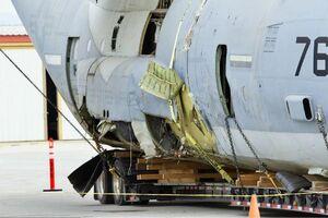 عکس/ وضعیت هواپیمای سقوط کرده آمریکا