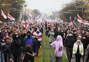 بازداشت حدود ۳۰۰ نفر در اعتراضات در بلاروس