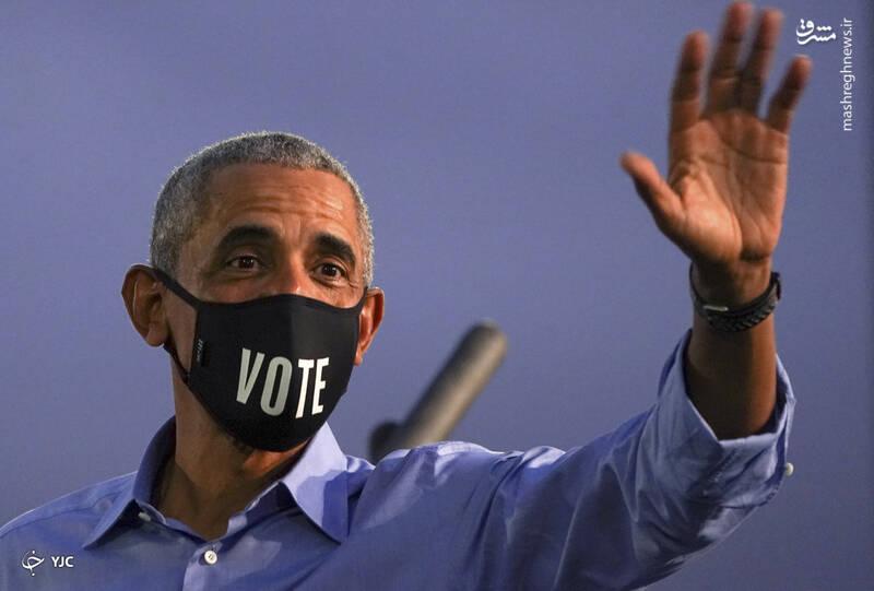 تبلیغ باراک اوباما، رئیس جمهور پیشین آمریکا، از جو بایدن