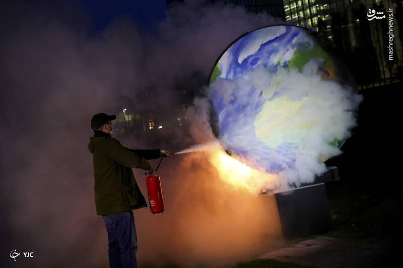تظاهرات علیه صنعت سوخت فسیلی در فرانکفورت، آلمان