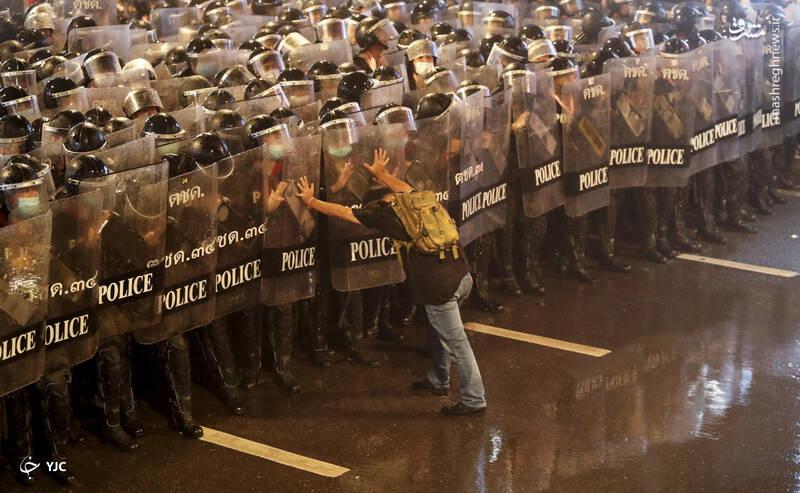 اعتراض ضد دولتی، در بانکوک، تایلند